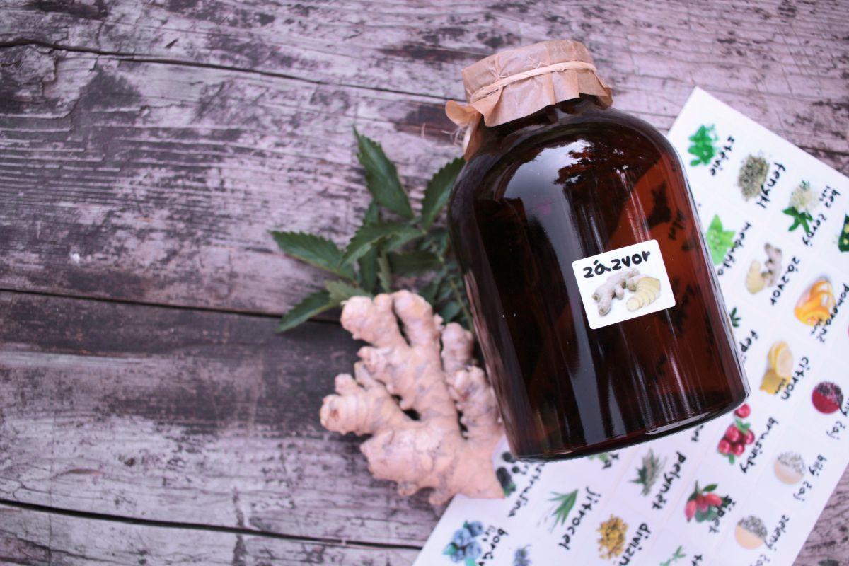 Samolepky na kořenky - čajové bylinky a koření