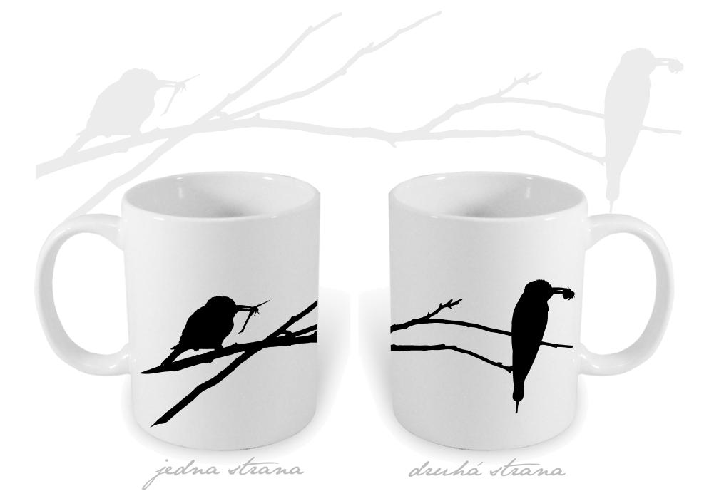 Keramický hrnek s ptáky - 330 ml